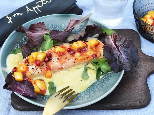 Abba Ugnsbakad lax med sweet chili & citronsås