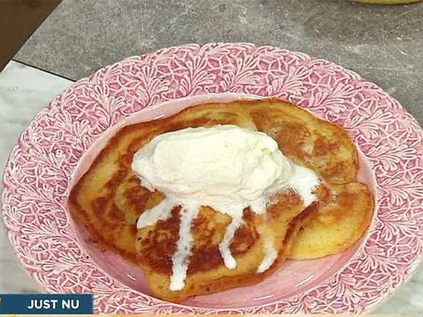 Äggfria pannkakor med kardemumma och banan
