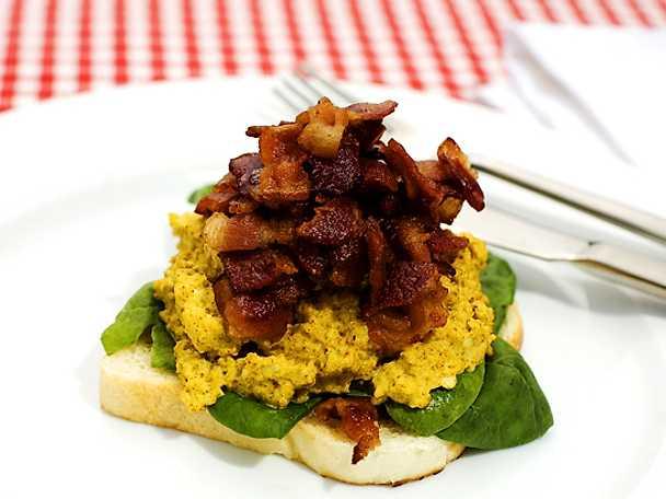 Äggröra med bacon