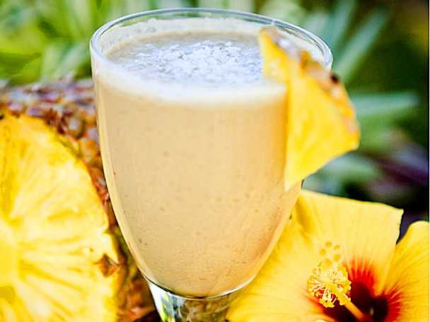Ananasshake med proteinpulver
