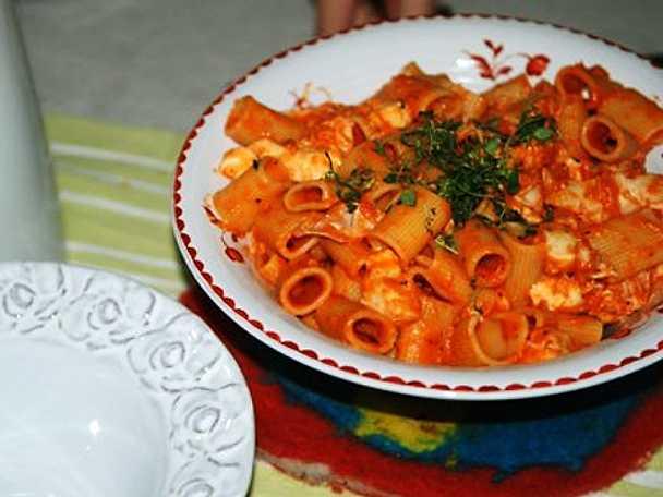 kyckling pasta tomatsås