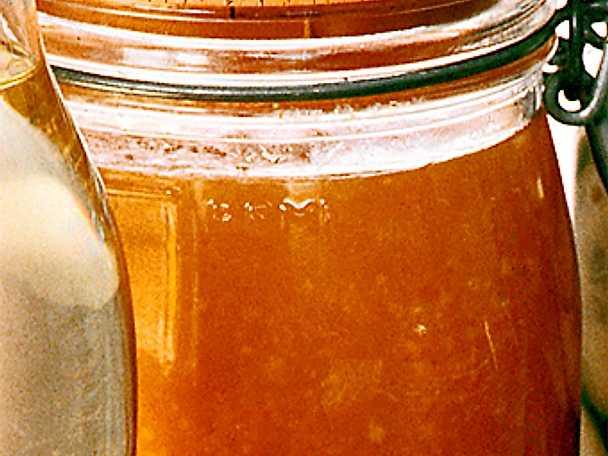 Apelsin- och aprikosmarmelad