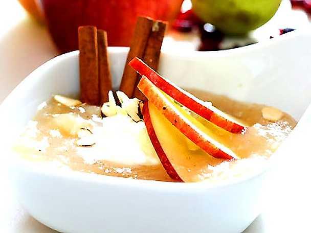 Äppel- och päronkräm med cashewkeso