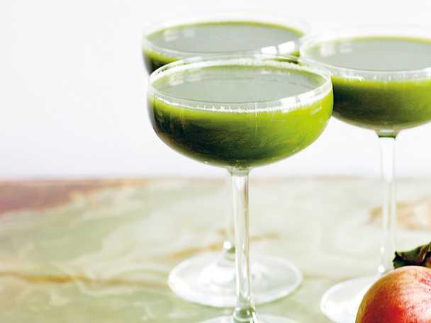 Äppel- och persiljejuice