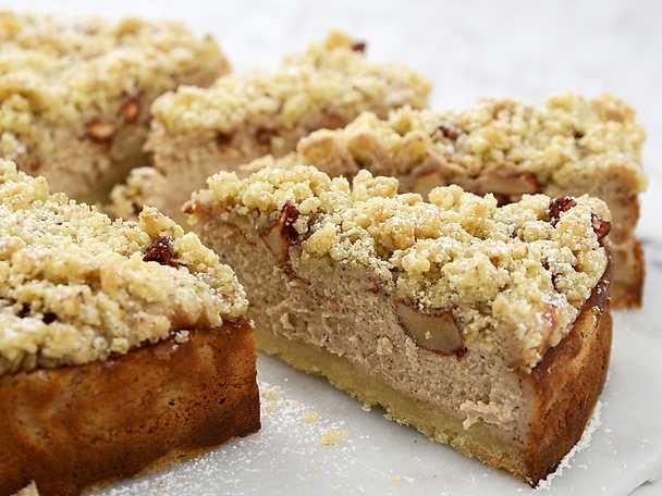 Äppelcheesecake med smuldeg