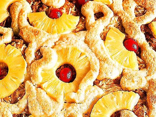 Äppelkaka med ananas