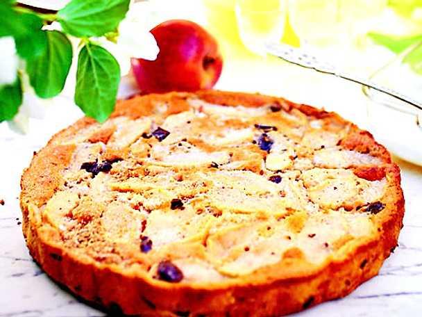 Äppelkaka med choklad