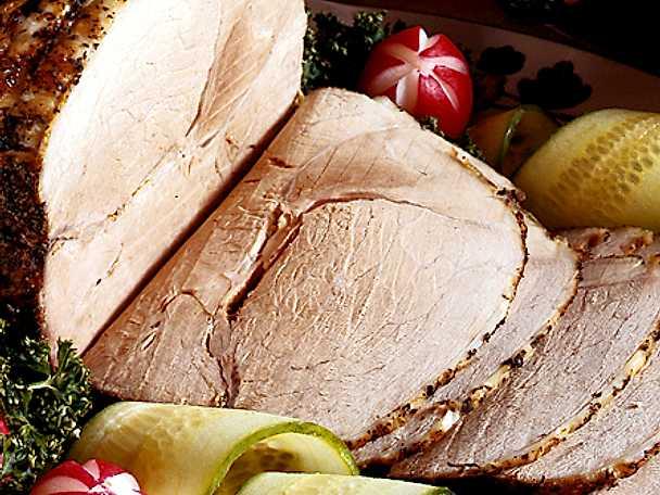 Äppelmarinerad skinka med örter