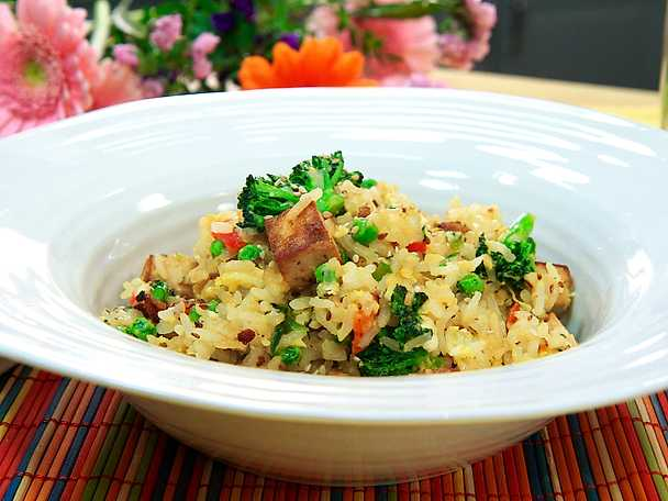 Asian egg fried rice