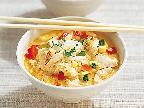 asiatisk soppa kyckling