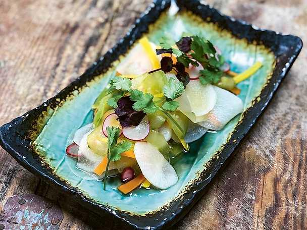 Asiatisk picklad sallad