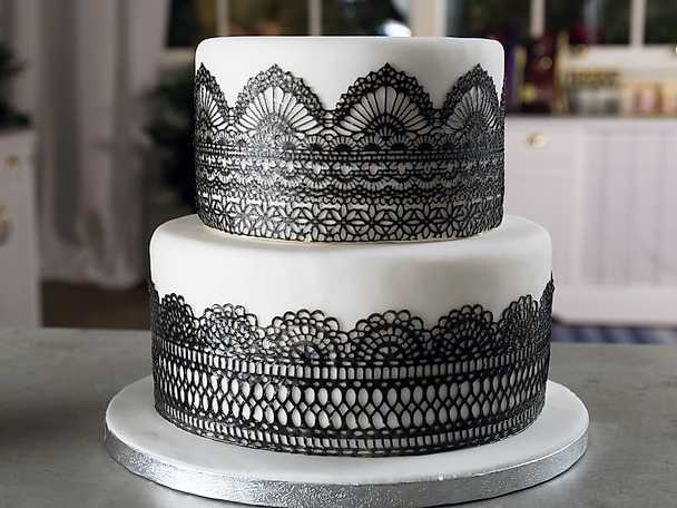 Ätbar spets till tårta - se & gör