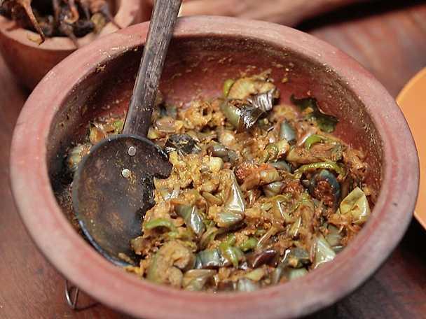 Auberginecurry med kokosgrädde