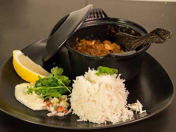 Bä bä vindaloo, curryrätt på lamm från Goa