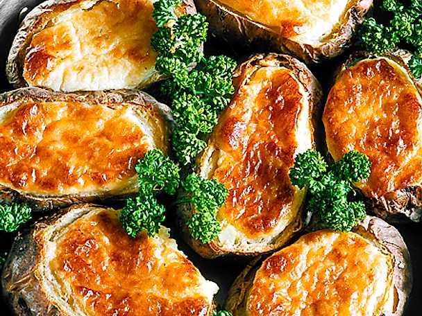 Bakad potatis med grönmögelost