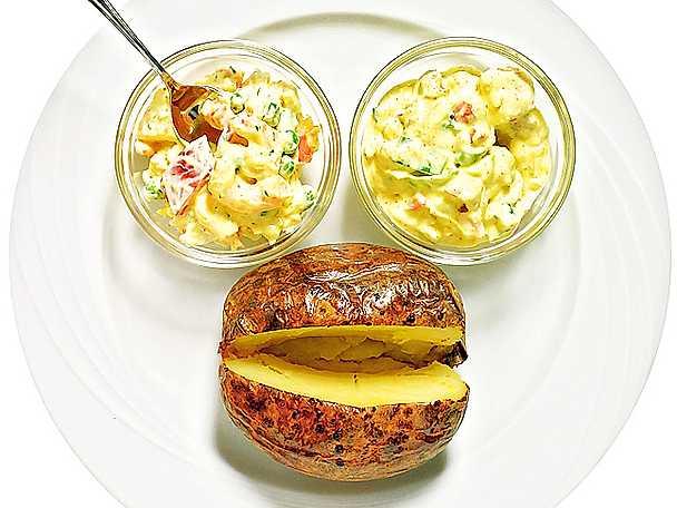 Bakad potatis med två röror