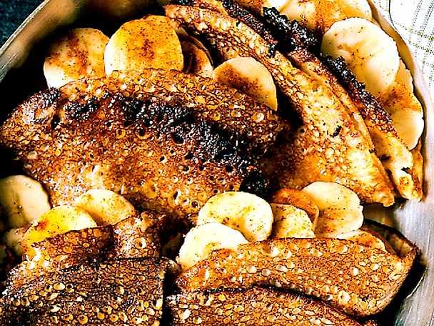 Bananpannkakor med lönnsirap