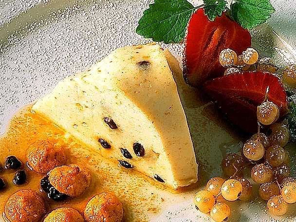 Bavaroise med mandel och korinter