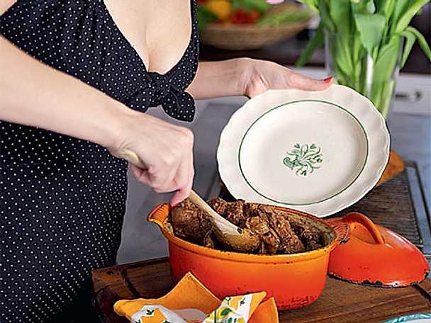 BBQ-högrev med  coleslaw