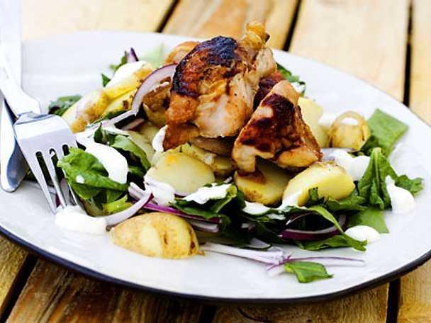 BBQ-kyckling med potatissallad
