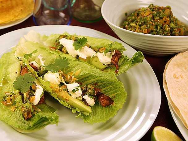 Bifftacos med grön salsa