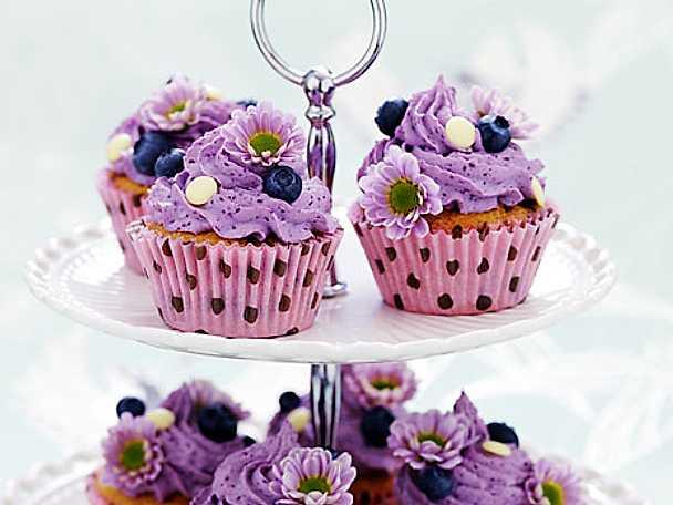 Blåbärscupcakes