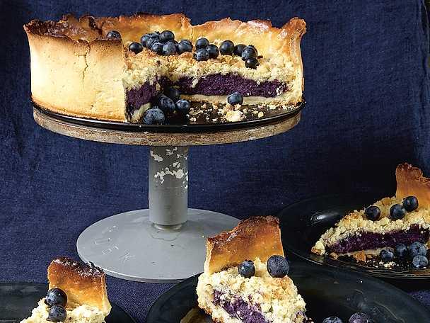 baka med blåbär och choklad