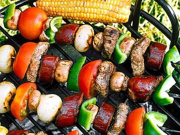 Blandade grillspett