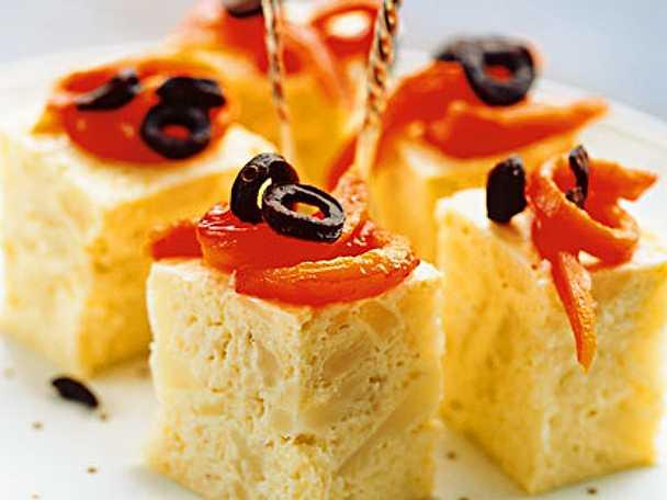 Blomkålserrine med grillad paprika och torkade oliver
