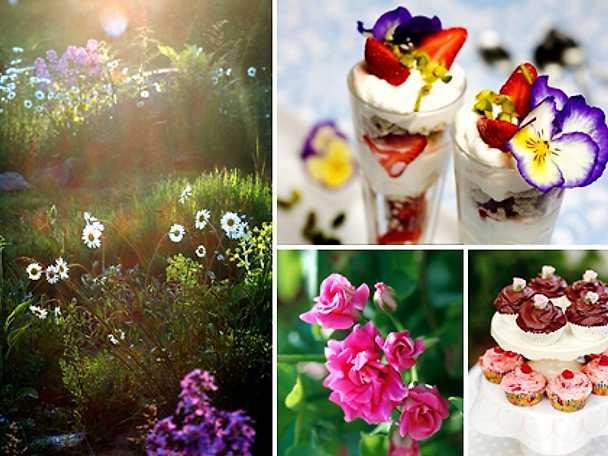 Blommor på menyn