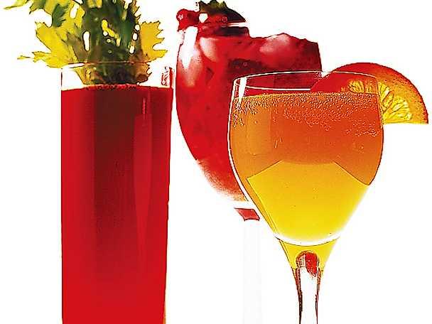 Bloody Mary, Mimosa och jordgubbsdrink