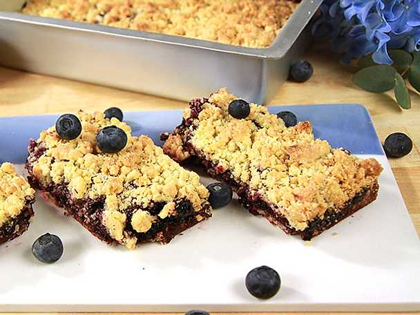 Blueberry bars med citron