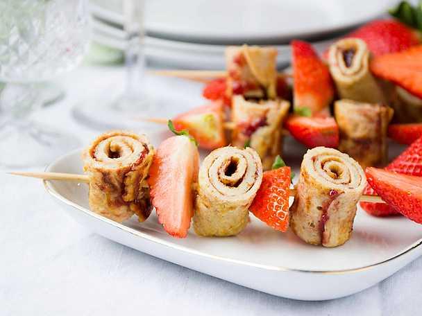 BOB Pannkaksspett med jordgubbar