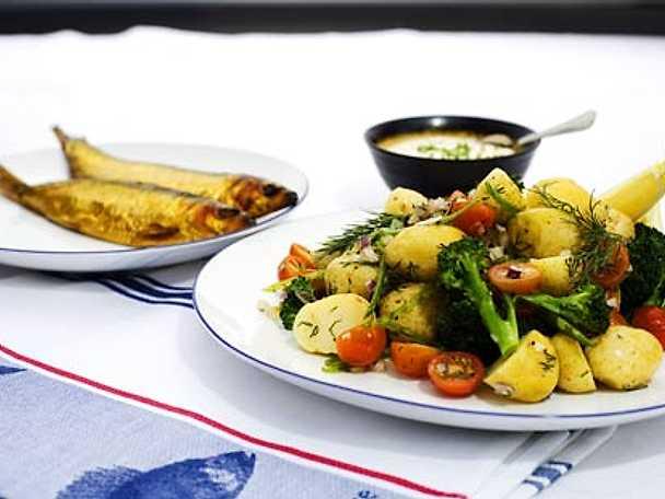 Böckling med varm potatissallad