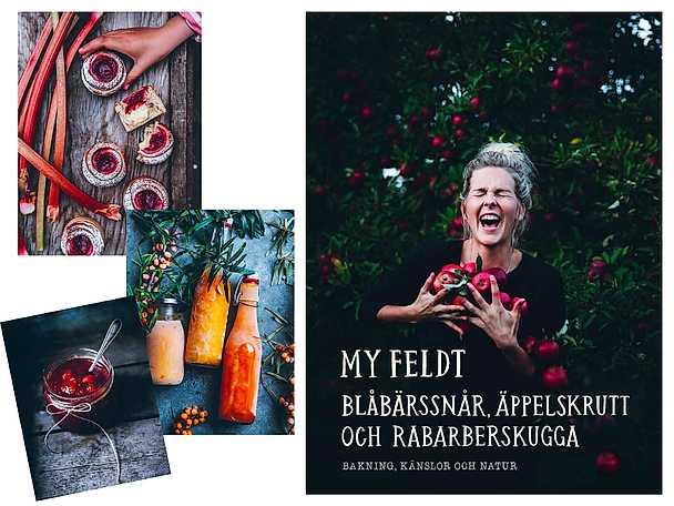 Bok My Feldt Blåbärssnår, äppelskrutt och rabarberskugga