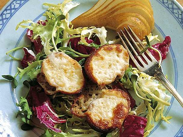 Bruschetta med päron och getost