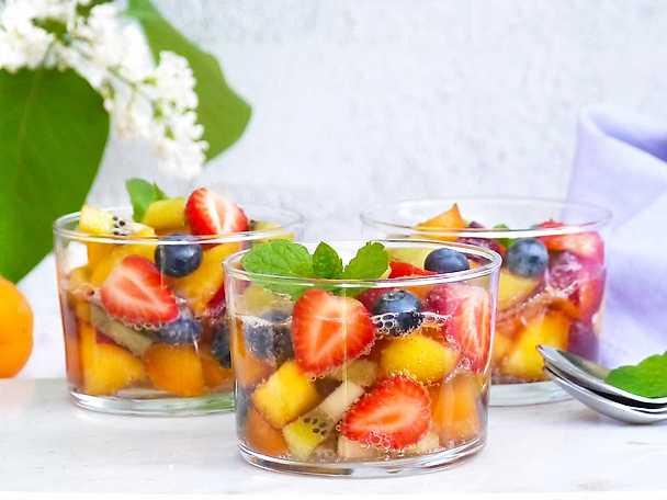 Bubblig fruktsallad