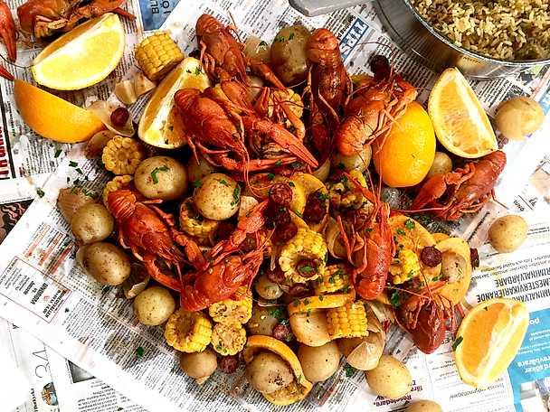 Cajun crayfish boil