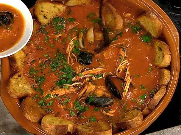 Campogianis fisk- och skaldjurssoppa