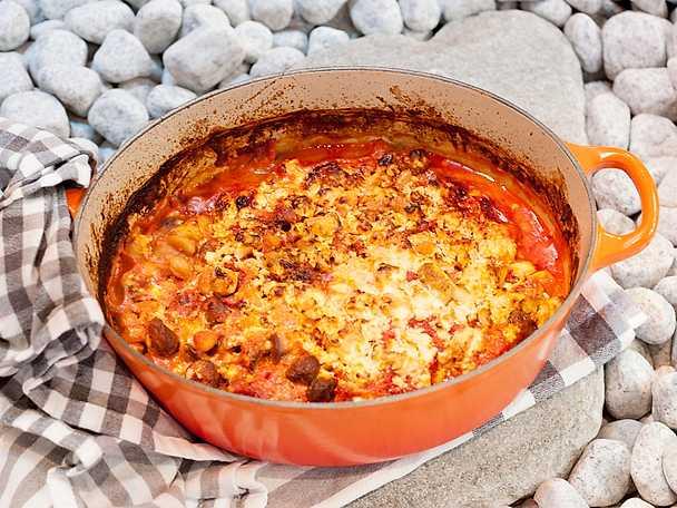 Cannelini- och tomatgratäng