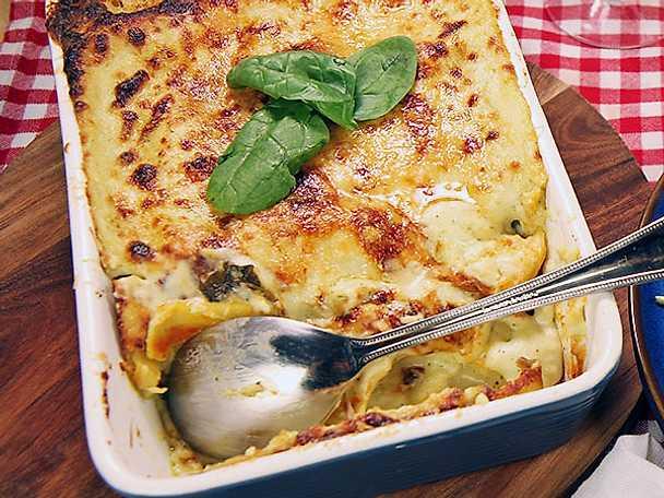 Cannelloni med spenat och svamp
