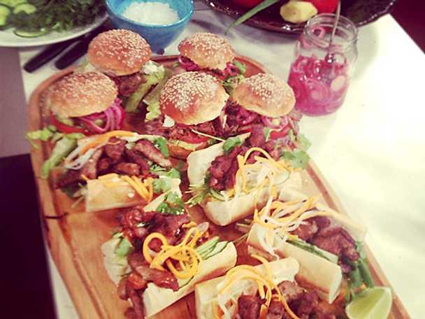 Cemita - mexikansk macka med pulled beef