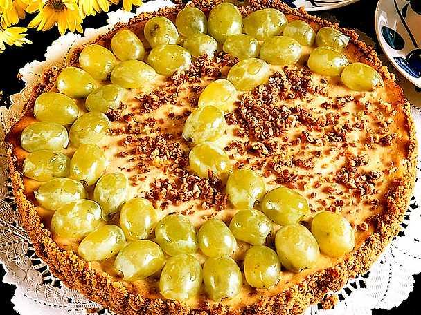 Cheesecake med druvor