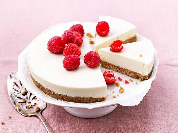 Cheesecake med hallon och ingefära