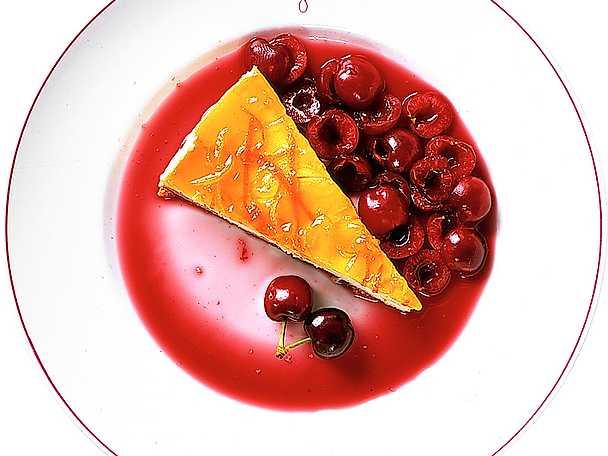Cheesecake med körsbär