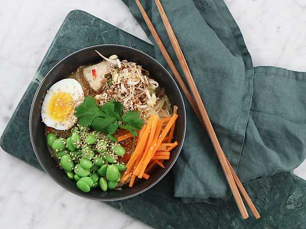 Chicken ramen bowl