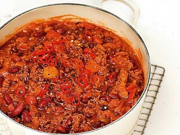 Chili con carne med svarta bönor
