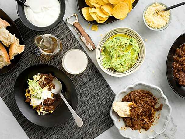 Chili med guacamole