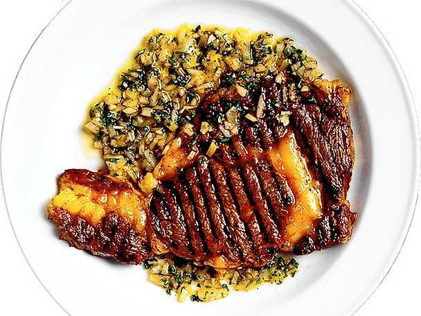 Chimichurri med grillat kött