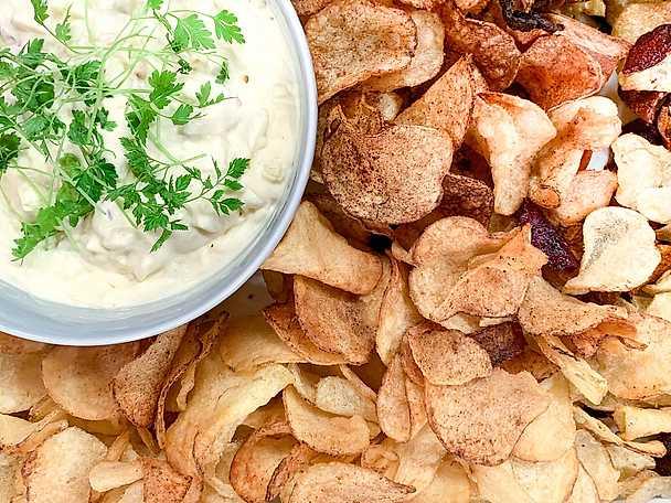 Chips med äppeldipp